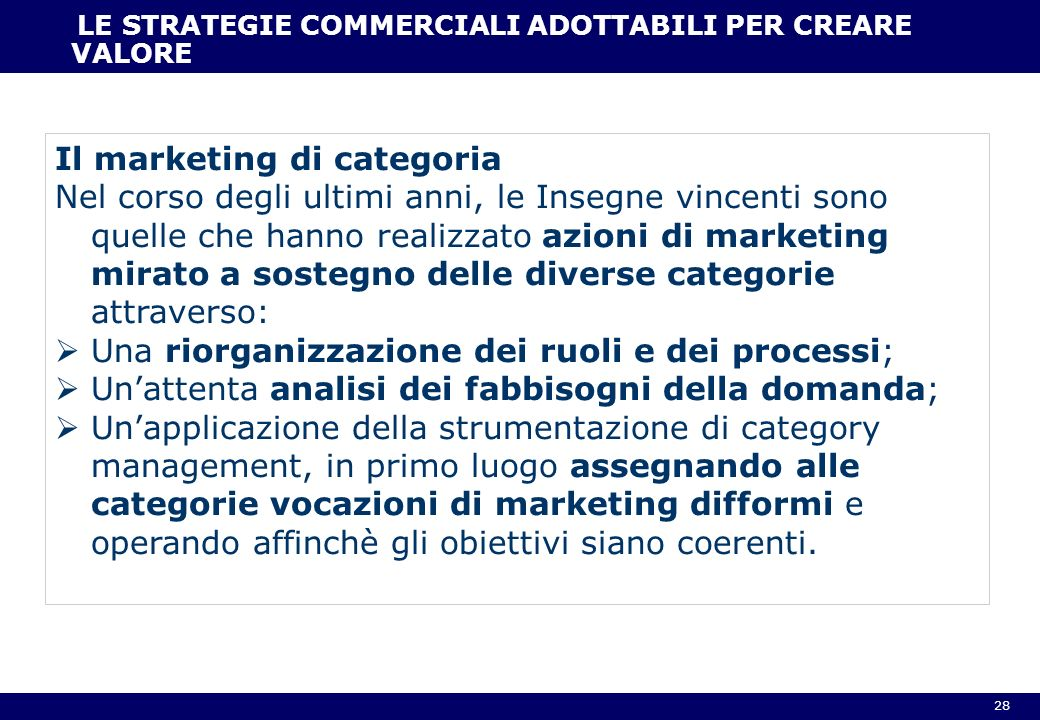 Il marketing di categoria
