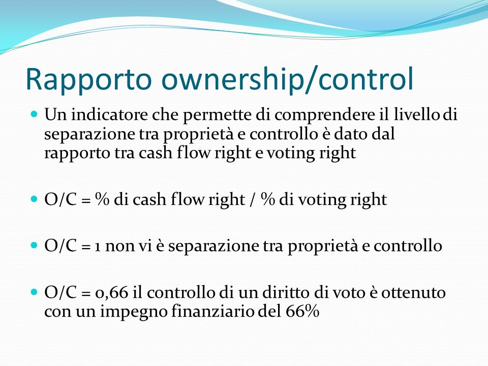 Rapporto ownership/control