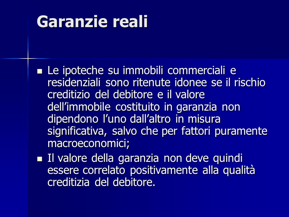 Garanzie reali