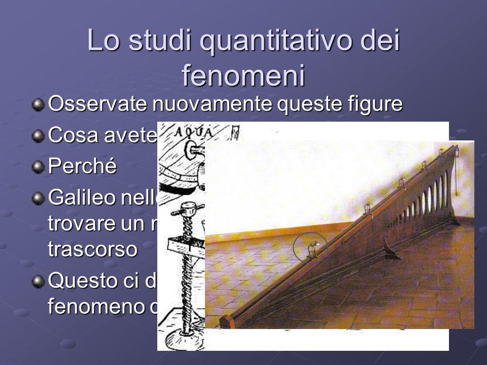 Lo studi quantitativo dei fenomeni