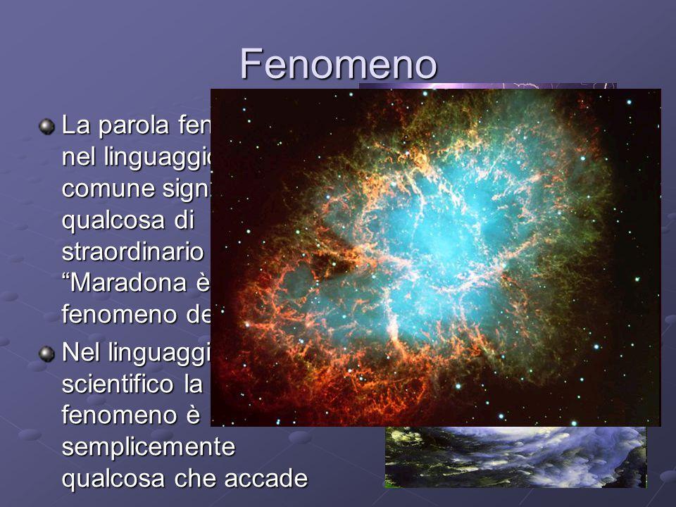 Fenomeno La parola fenomeno nel linguaggio comune significa qualcosa di straordinario Maradona è stato un fenomeno del calcio