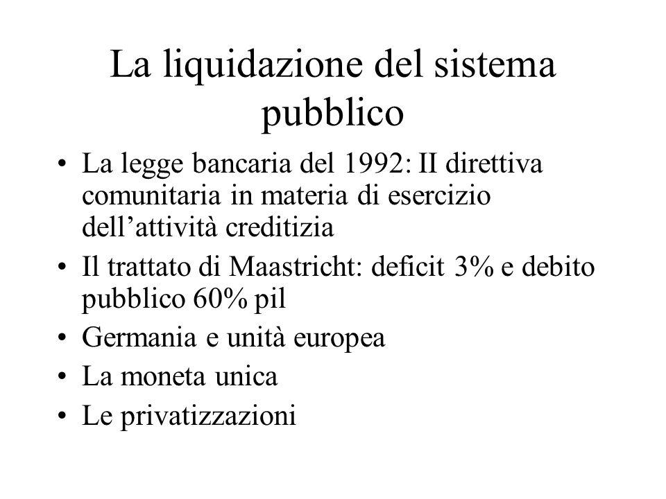 La liquidazione del sistema pubblico