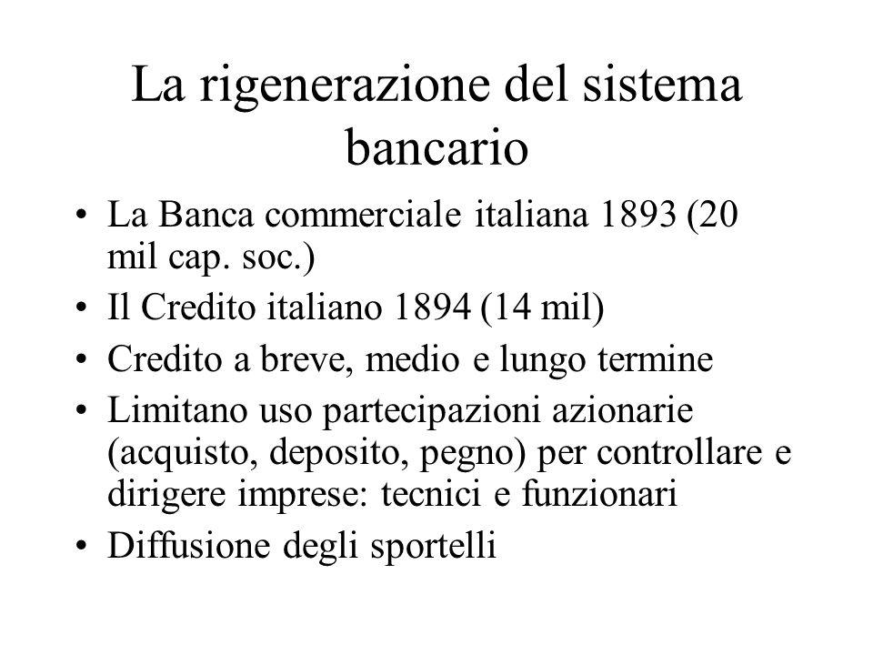 La rigenerazione del sistema bancario
