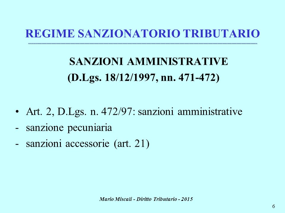 Mario Miscali - Diritto Tributario - 2015