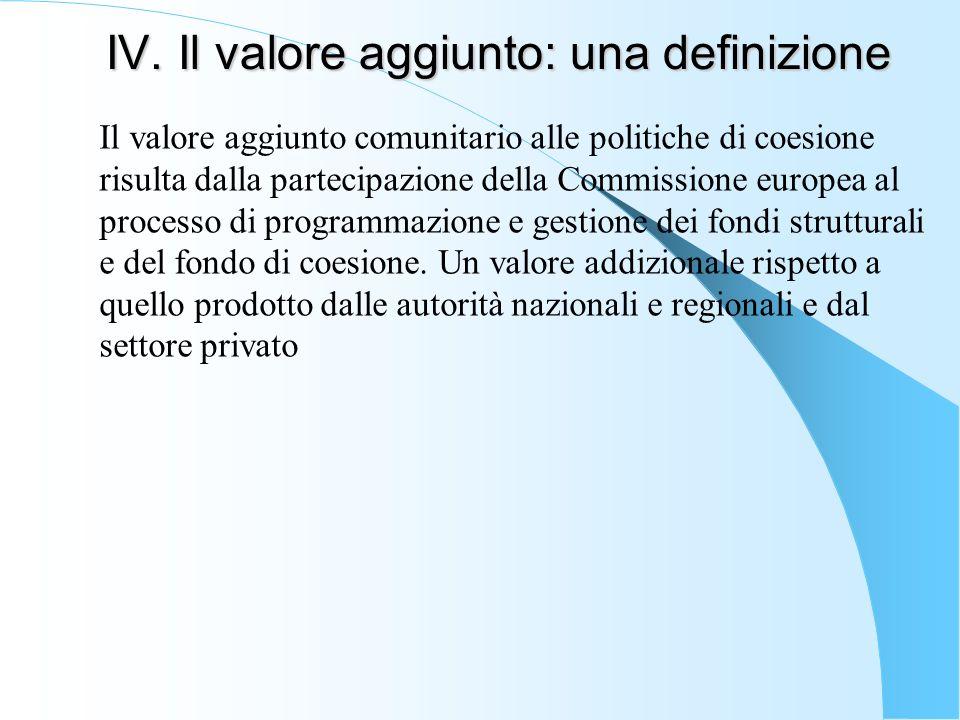 IV. Il valore aggiunto: una definizione
