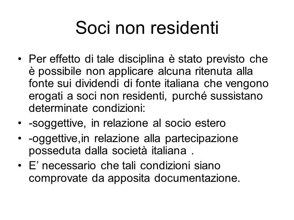 Soci non residenti
