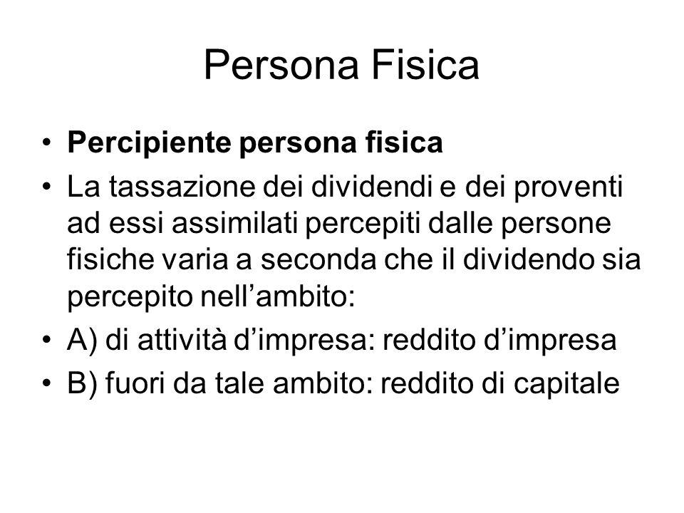 Persona Fisica Percipiente persona fisica