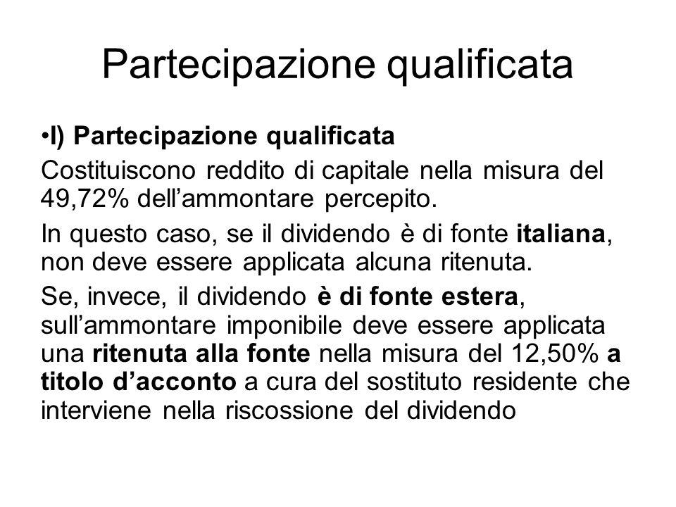 Partecipazione qualificata