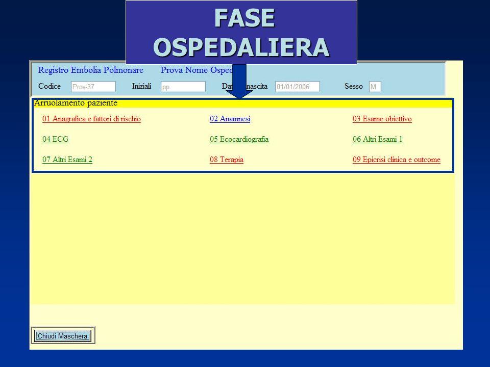 FASE OSPEDALIERA
