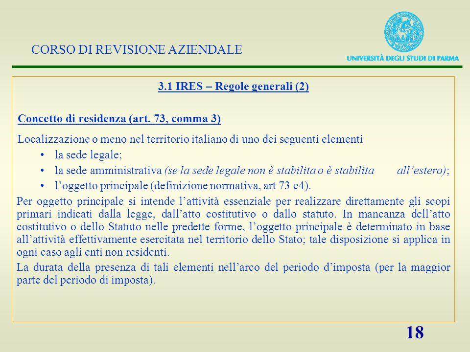 3.1 IRES – Regole generali (2)