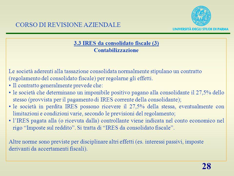 3.3 IRES da consolidato fiscale (3)