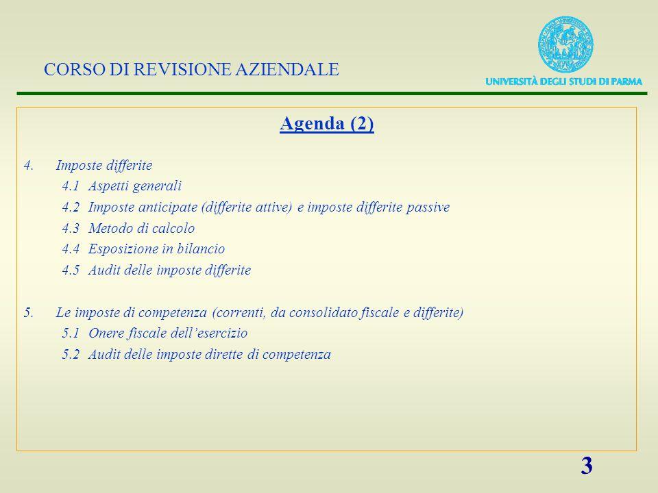 Agenda (2) 4. Imposte differite 4.1 Aspetti generali