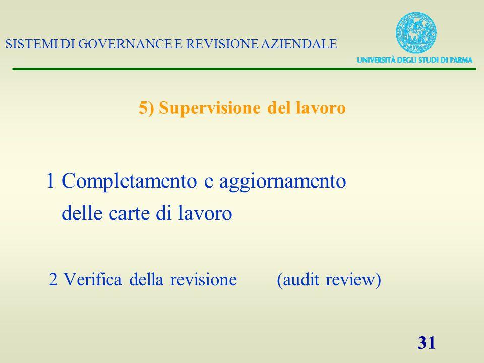 5) Supervisione del lavoro