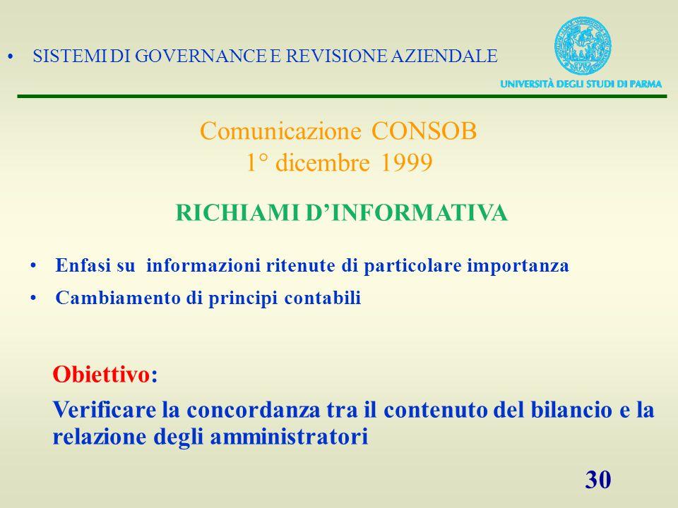 RICHIAMI D'INFORMATIVA