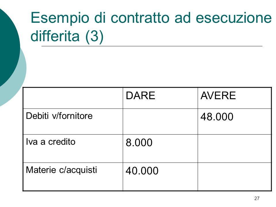 Esempio di contratto ad esecuzione differita (3)