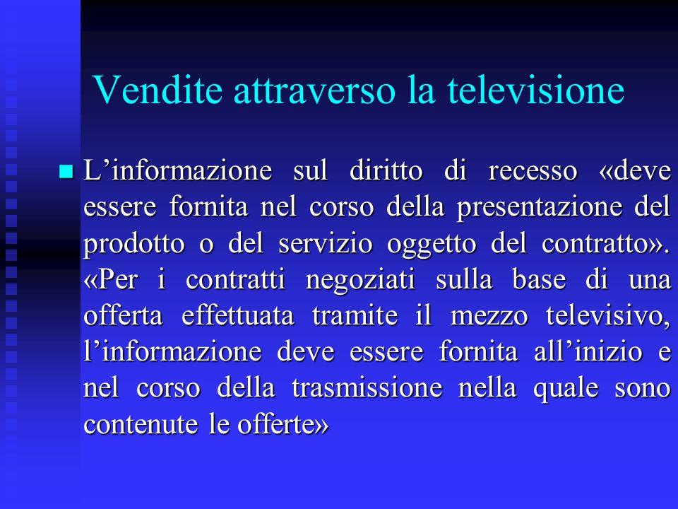 Vendite attraverso la televisione