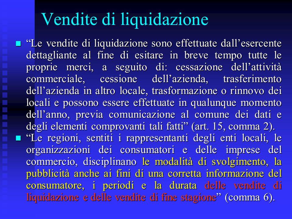 Vendite di liquidazione