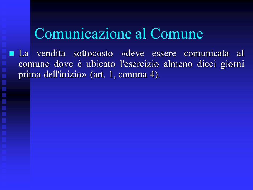 Comunicazione al Comune