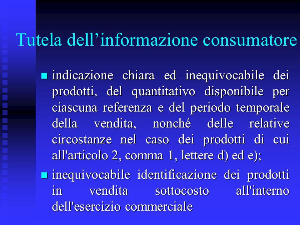 Tutela dell'informazione consumatore