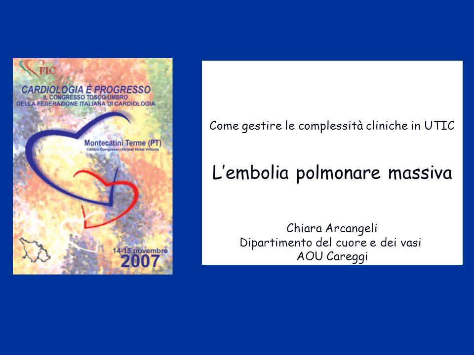 L'embolia polmonare massiva
