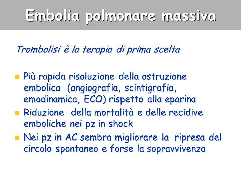 Embolia polmonare massiva