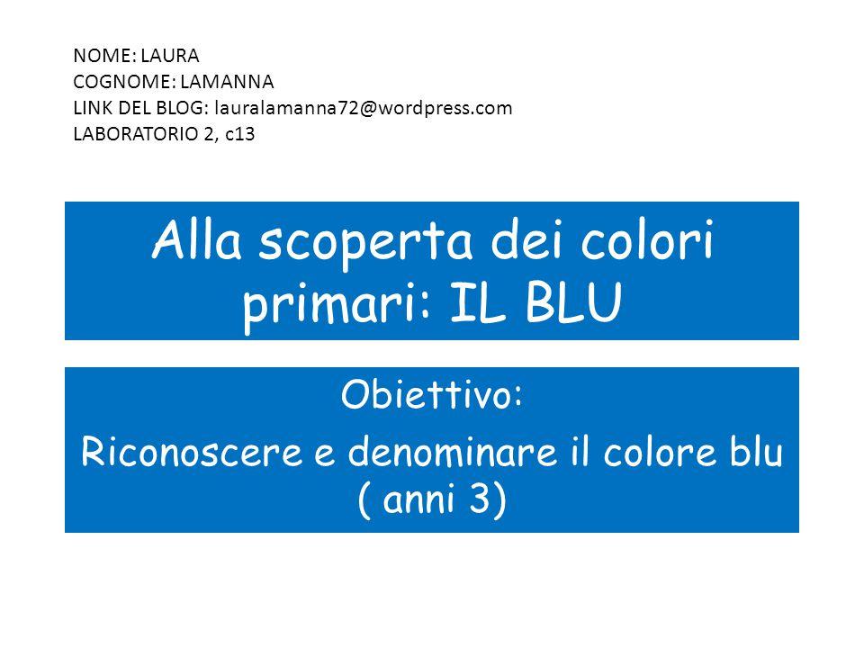 Alla scoperta dei colori primari: IL BLU