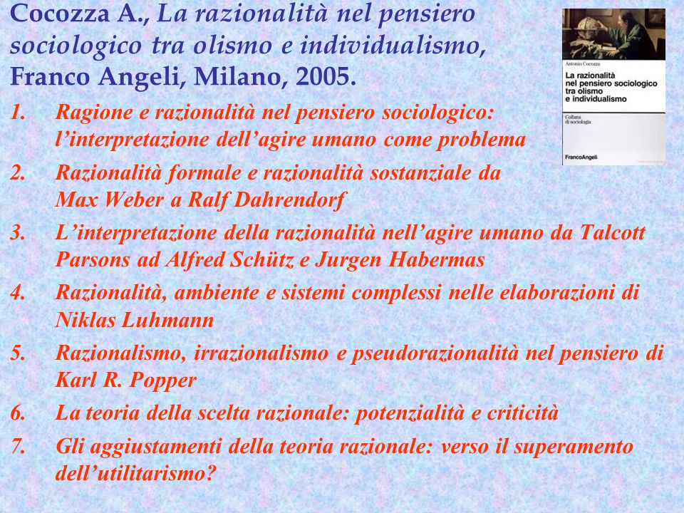 Cocozza A., La razionalità nel pensiero