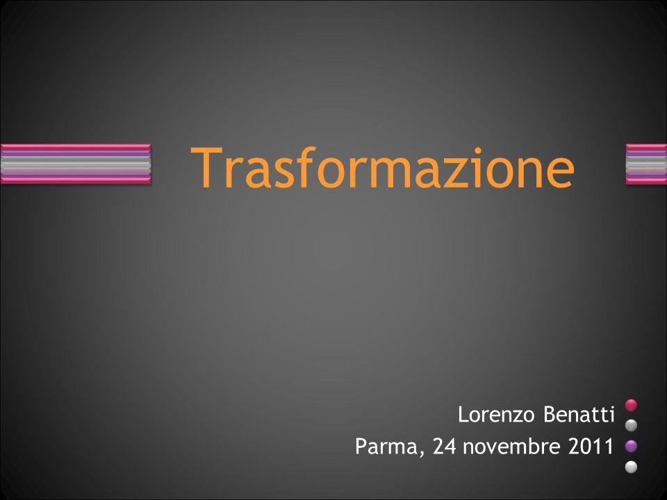 Lorenzo Benatti Parma, 24 novembre 2011