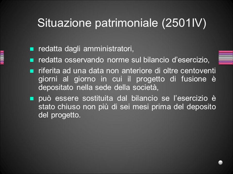Situazione patrimoniale (2501IV)