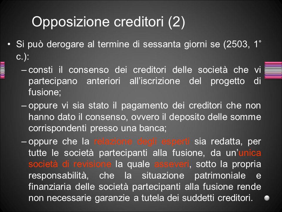 Opposizione creditori (2)