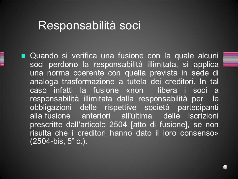 Responsabilità soci