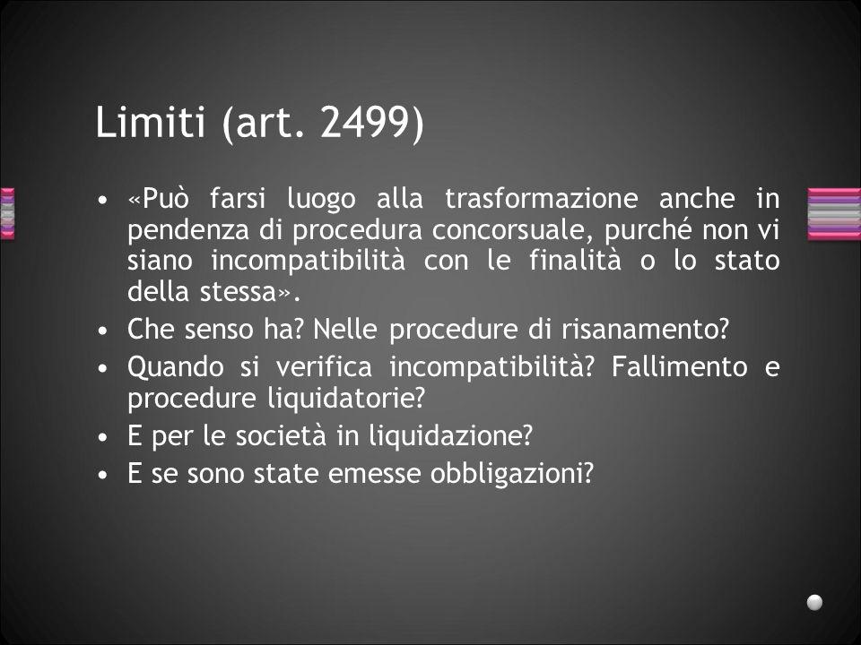 Limiti (art. 2499)