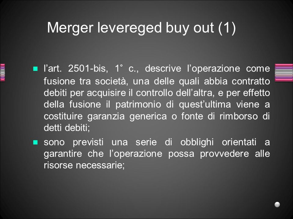 Merger levereged buy out (1)