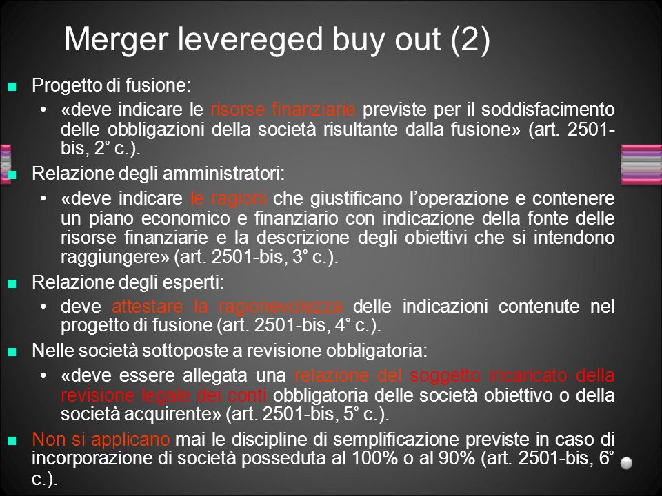 Merger levereged buy out (2)