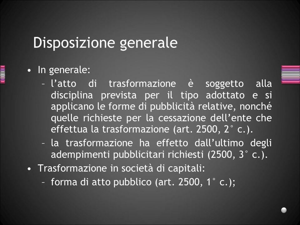 Disposizione generale
