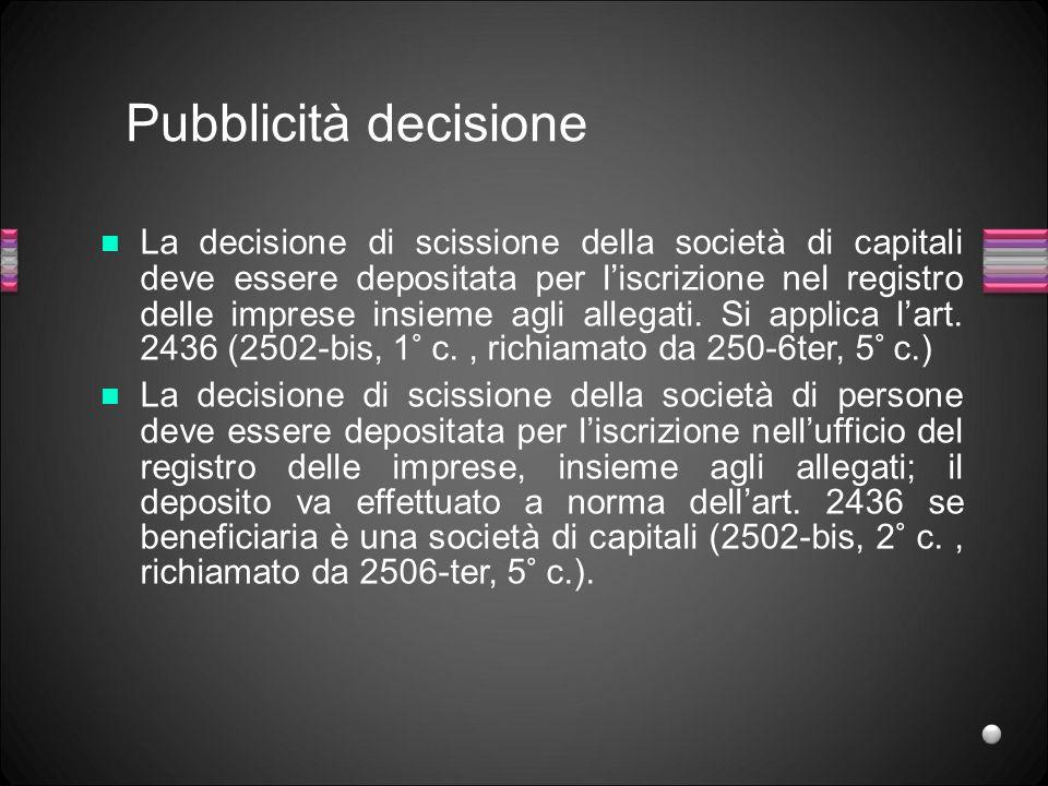 Pubblicità decisione