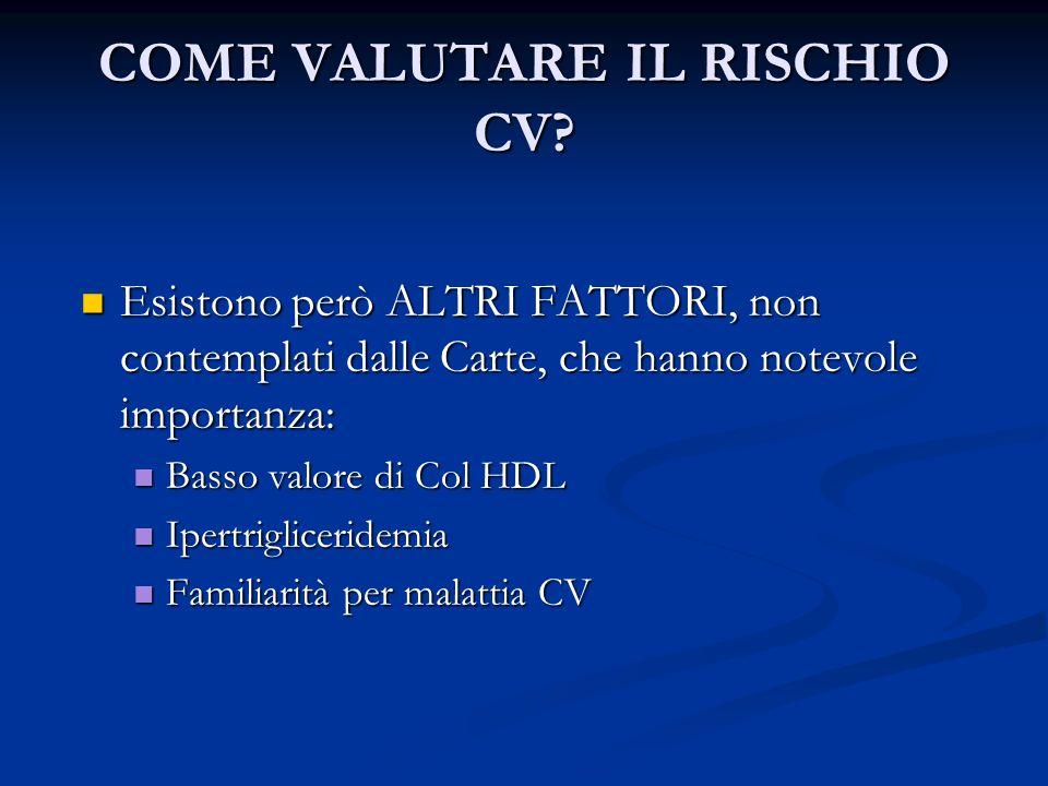 COME VALUTARE IL RISCHIO CV
