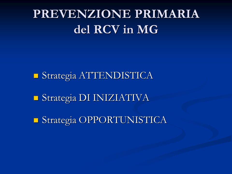 PREVENZIONE PRIMARIA del RCV in MG