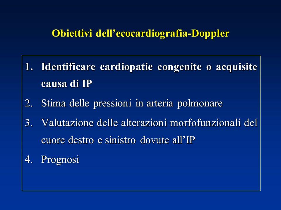 Obiettivi dell'ecocardiografia-Doppler