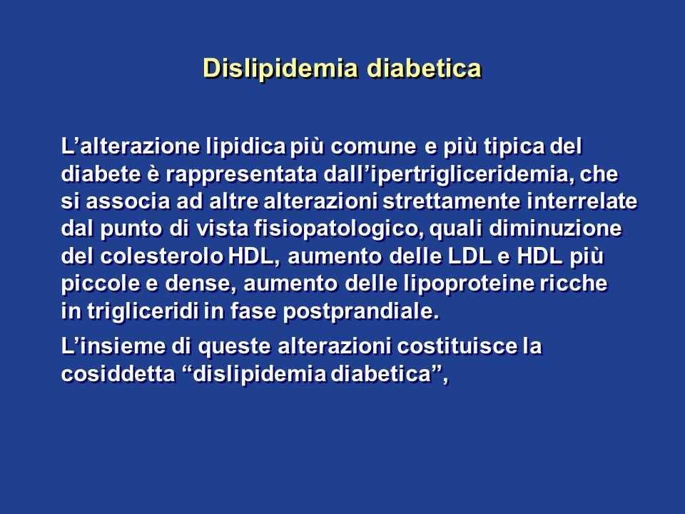 Dislipidemia diabetica