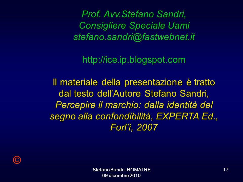 Stefano Sandri- ROMATRE 09 dicembre 2010
