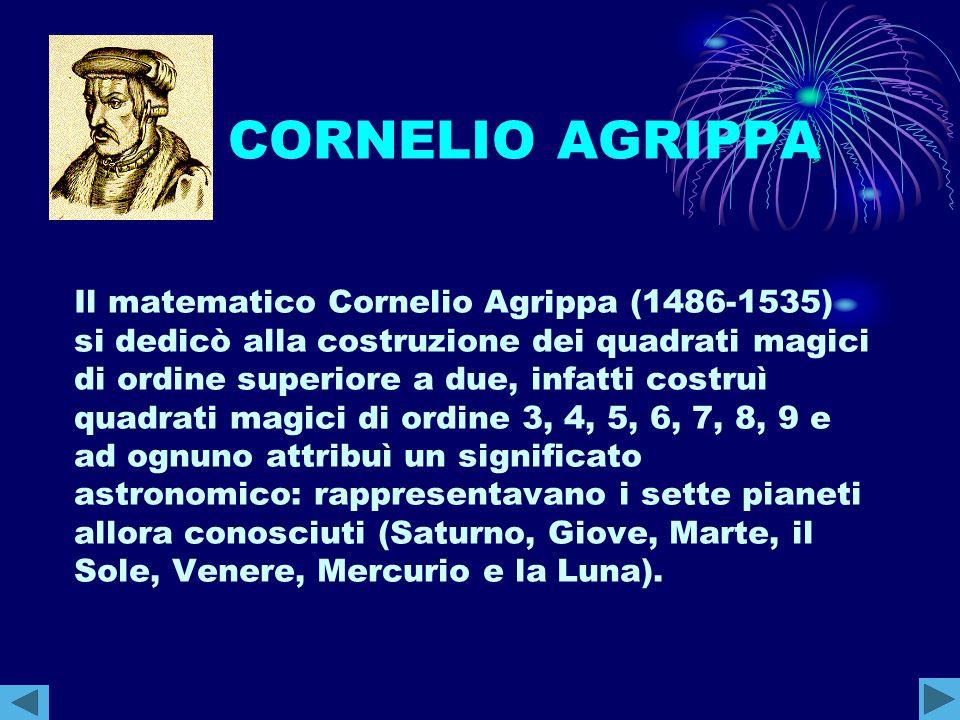 CORNELIO AGRIPPA Il matematico Cornelio Agrippa (1486-1535)