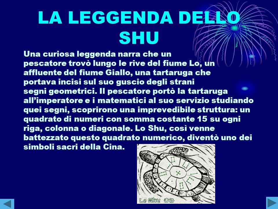 LA LEGGENDA DELLO SHU Una curiosa leggenda narra che un