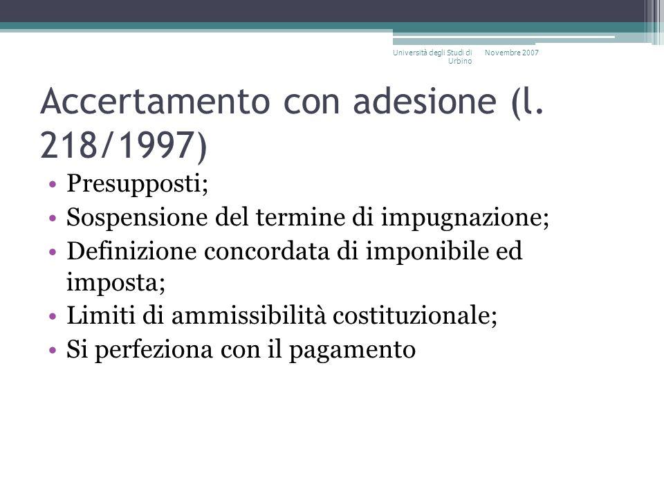Accertamento con adesione (l. 218/1997)