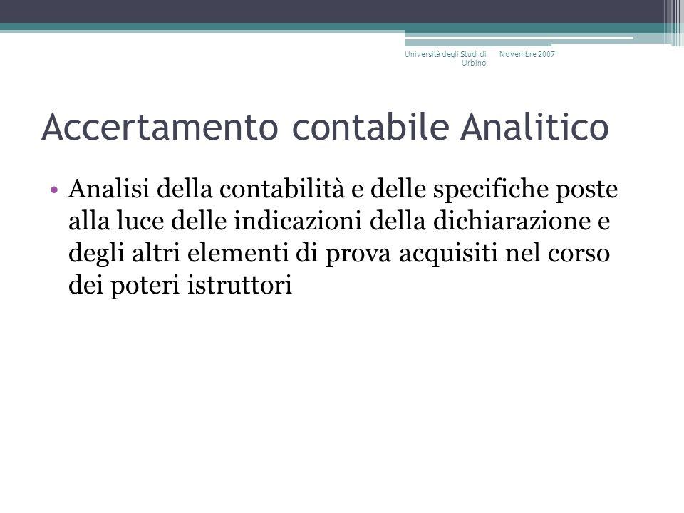 Accertamento contabile Analitico
