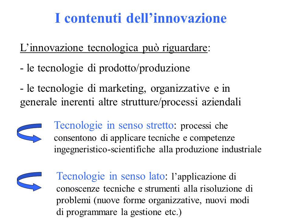 I contenuti dell'innovazione