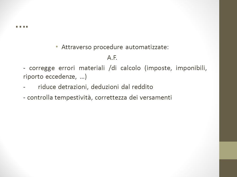 Attraverso procedure automatizzate: