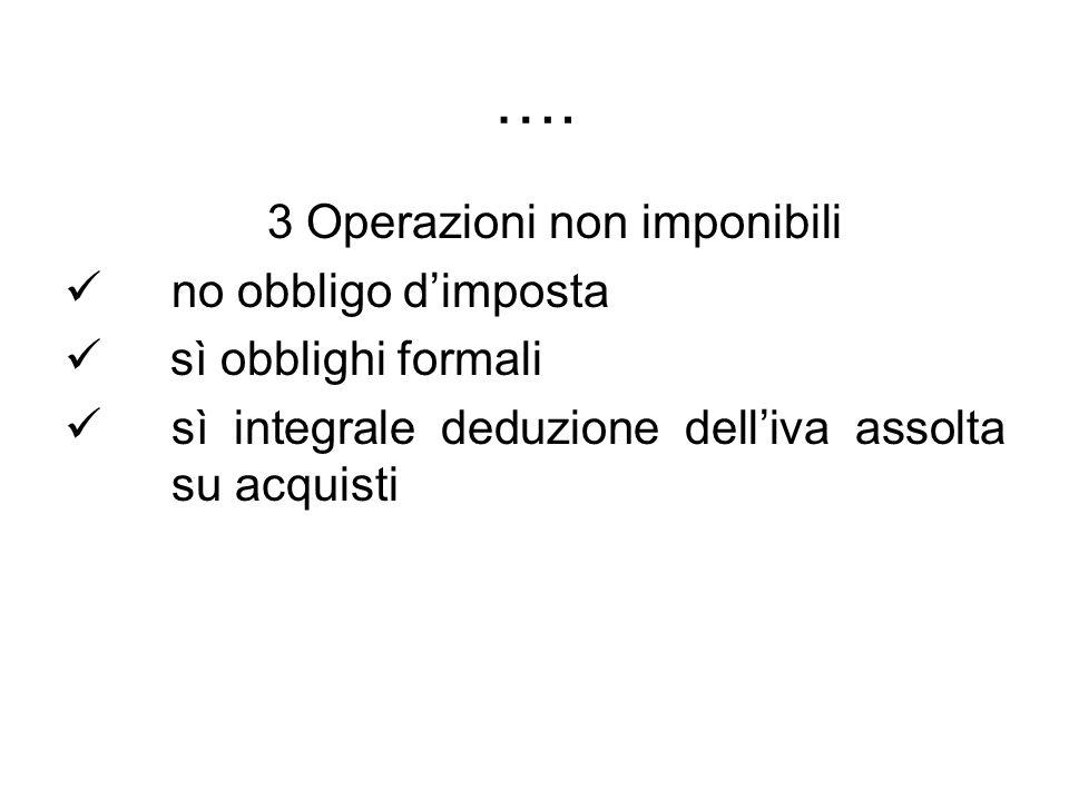 3 Operazioni non imponibili