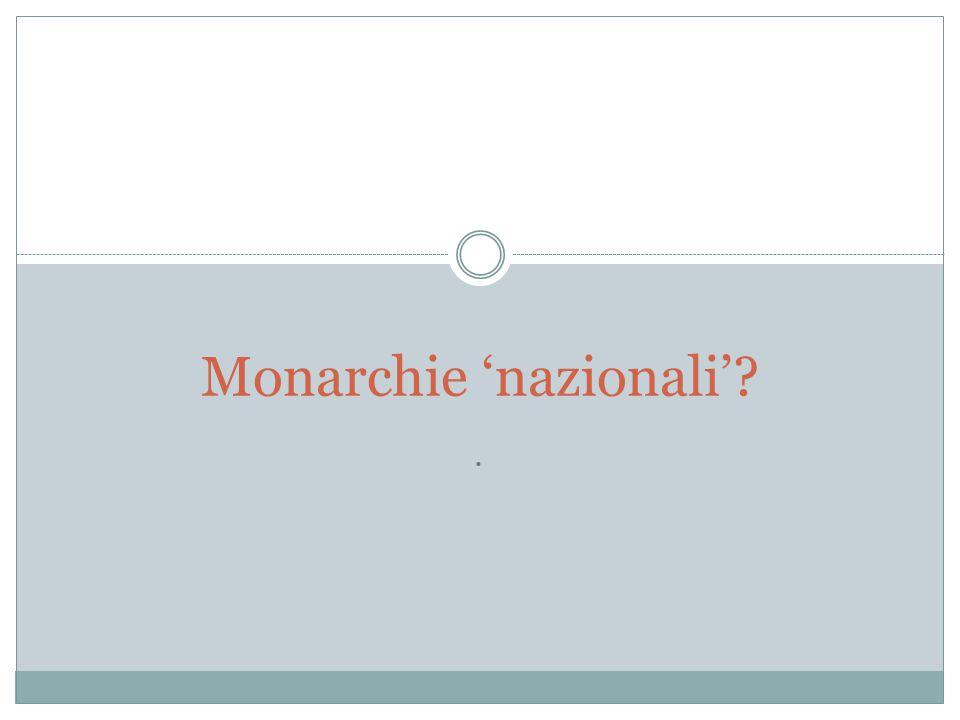 Monarchie 'nazionali'
