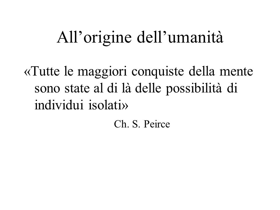 All'origine dell'umanità